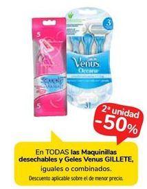 Oferta de En TODAS las Maquinillas desechables y Geles Venus GILLETE por