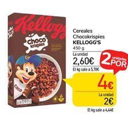 Oferta de Cereales Choco Krispies Kellogg's por 2,6€