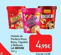 Oferta de Helado de Pantera Rosa, Bony, Tigreton o Bollycao la ibense  por 4,95€