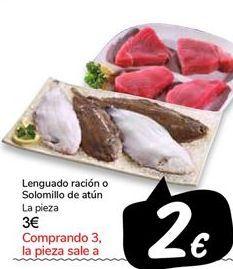 Oferta de Lenguado ración o Solomillo de atún por 3€