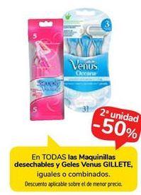 Oferta de Maquinilla desechable y Geles Venus Gillette por