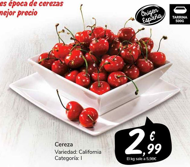 Oferta de Cerezas por 2,99€