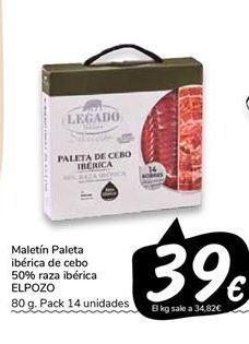 Oferta de Maletín paleta ibérica de cebo 50% raza ibérica elpozo por 39€