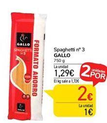 Oferta de Spaghetti Gallo por 1,29€
