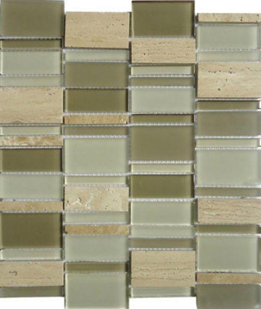 Oferta de Malla 30 x 35,4 cm piedra gris beige Serie INTERNACIONAL por 6,15€