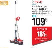 Oferta de Limpiador a vapor Moppy PTEU0275 POLTI por 109€