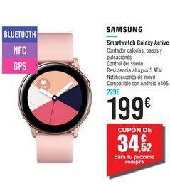 Oferta de Smartwatch Galaxy Active SAMSUNG por 199€