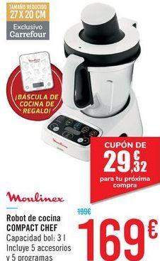 Oferta de Robot de cocina COMPACT CHEF Moulinex por 169€
