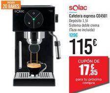 Oferta de Cafetera express CE4501 Solac por 115€