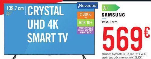 "Oferta de CRYSTAL UHD 4K SMART TV 55"" 55TU7125 SAMSUNG por 569€"
