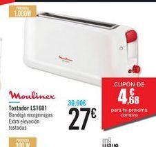 Oferta de Tostador LS1601 Moulinex por 27€