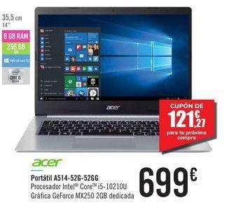 Oferta de Portátil A514-52G-52GG ACER por 699€