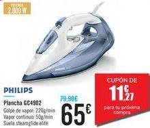 Oferta de Plancha GC4902 PHILIPS por 65€