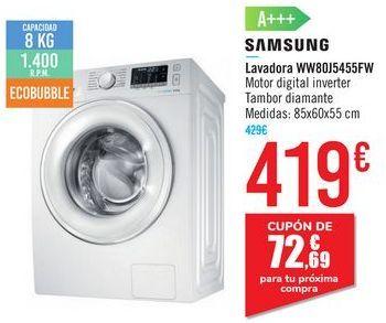 Oferta de Lavadora WW80J5455FW SAMSUNG por 419€