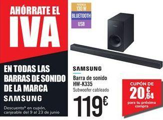 Oferta de Barra de sonido HW-K335 SAMSUNG por 119€