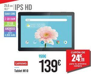Oferta de Tablet M10 LENOVO por 139€