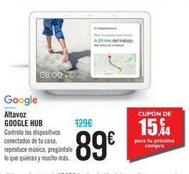 Oferta de Altavoz GOOGLE HUB Google por 89€
