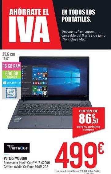 Oferta de Portátil W360RB TerraQue por 499€