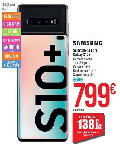 Oferta de Smartphone libre Galaxy S10+ SAMSUNG por 799€