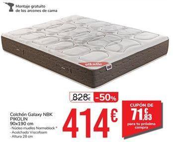 Oferta de Colchón Galaxy NBK PIKOLIN 90x190 cm por 414€