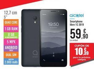 Oferta de Smartphone libre 1C 2019 Alcatel por 59,9€
