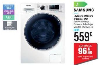 Oferta de Lavadora-secadora WD80J6A10AW SAMSUNG por 559€