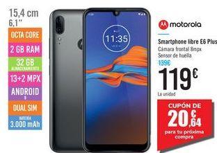 Oferta de Smartphone libre E6 PLUS MOTOROLA por 119€