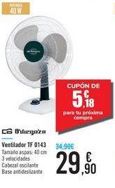 Oferta de Ventilador TF 0143 Orbegozo por 29,9€