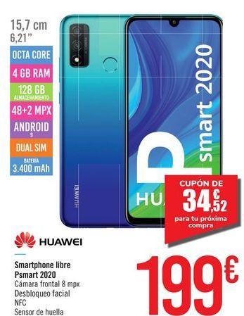Oferta de Smartphone libre Psmart 2020 HUAWEI por 199€