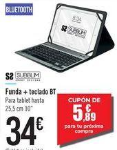 Oferta de Funda + teclado BT  por 34€
