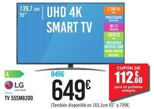 "Oferta de UHD 4K SMART TV 55"" 55SM8200 LG por 649€"