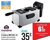 Oferta de Freidora MDF30S-18 MANDINE por 35€