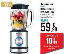 Oferta de Batidora vaso MAGNUM 1200 Taurus por 59,9€