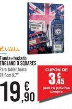 Oferta de Funda+teclado ENGLAND O SQUARES eVitta por 19,9€