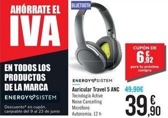 Oferta de Auricular Travel 5 ANC ENERGY SISTEM por 39,9€