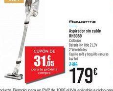 Oferta de Aspirador sin cable RH9059 Rowenta por 179€