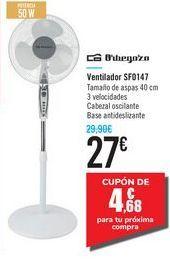 Oferta de Ventilador SF0147 Orbegozo por 27€