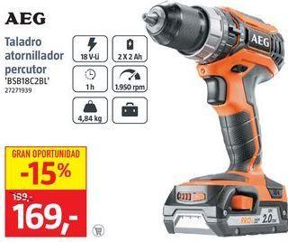Oferta de Taladro atornillador AEG por 169€