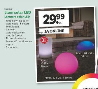 Oferta de Lámpara solar led Livarno por 29,99€