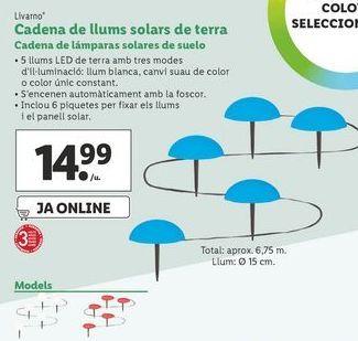 Oferta de Cadena de lámparas solares de suelo Livarno por 14,99€