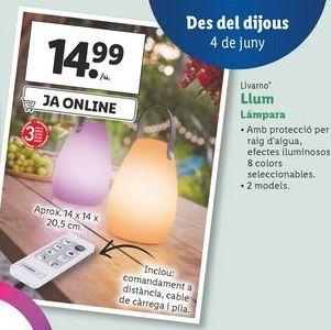 Oferta de Lámpara Livarno por 14,99€