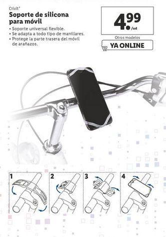 Oferta de Soporte de silicona para móvil por 4,99€