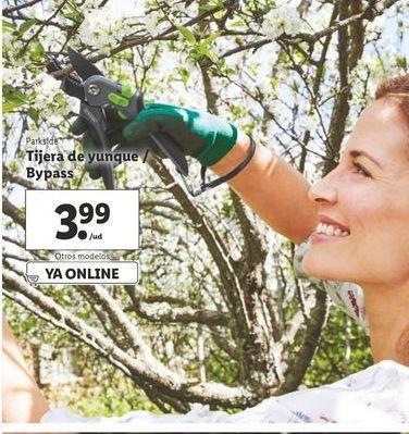 Oferta de Tijera de yunke / bypass Parkside por 3,99€