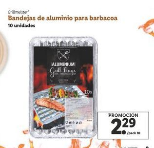 Oferta de Bandejas de aluminio para barbacoa por 2,29€