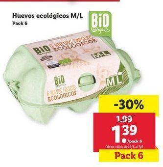 Oferta de Huevos ecológicos M/L por 1,39€