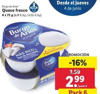 Oferta de Queso fresco Burgo de Arias por 2,99€