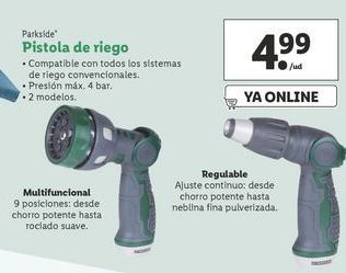 Oferta de Pistola de riego Parkside por 4,99€