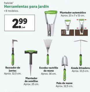 Oferta de Herramientas para jardín Parkside por 2,99€