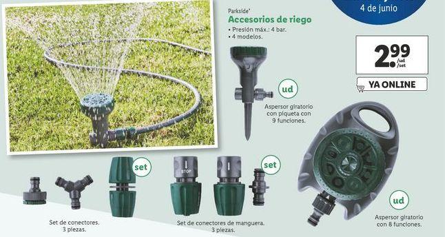 Oferta de Accesorios de riego Parkside por 2,99€