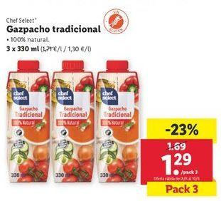 Oferta de Gazpacho tradicional por 1,29€